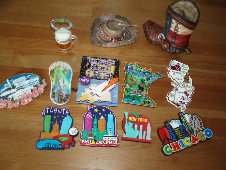 souvenirs from travels